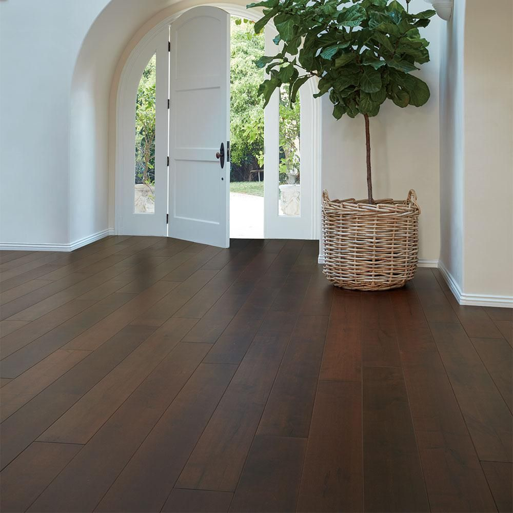 Malibu Wide Plank Maple Zuma 3 8 in  Thick x 6 1 2 in  Wide x     Malibu Wide Plank Maple Zuma 3 8 in  Thick x 6 1 2 in  Wide x Varying  Length Engineered Click Hardwood Flooring  23 64 sq  ft    case