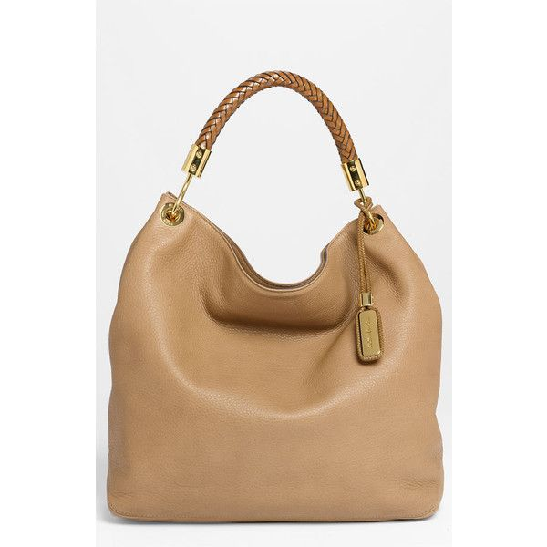 23f264095a9c Michael Kors 'Skorpios - Large' Leather Hobo Desert One Size found on  Polyvore