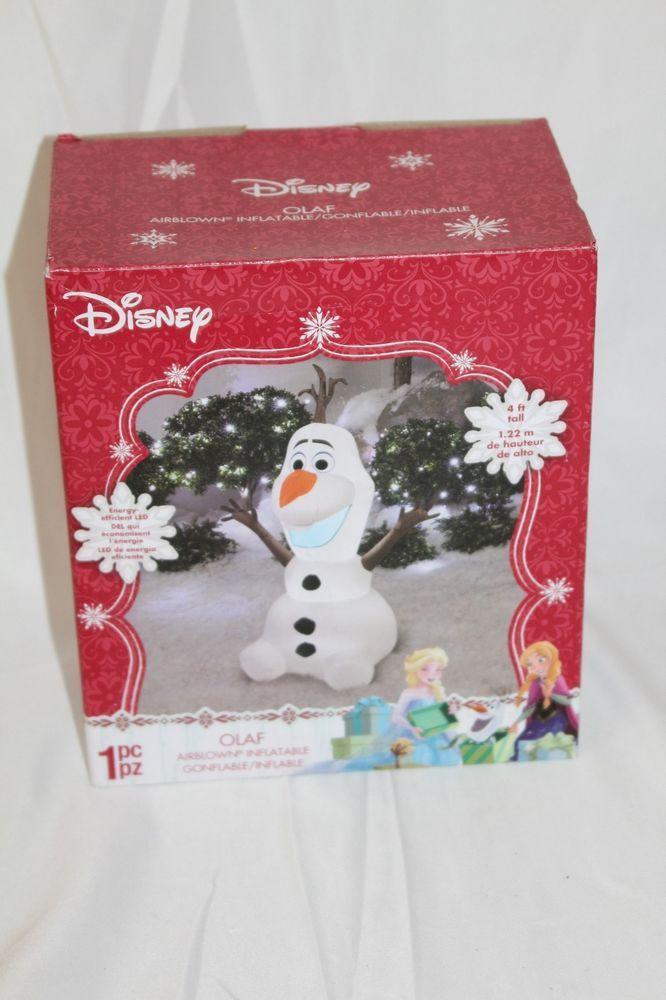 Disney Olaf Airblown Inflatable Christmas Yard Decoration Frozen - disney christmas yard decorations