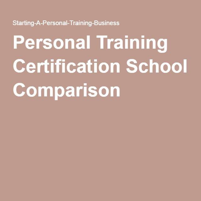 Personal Training Certification School Comparison Personal