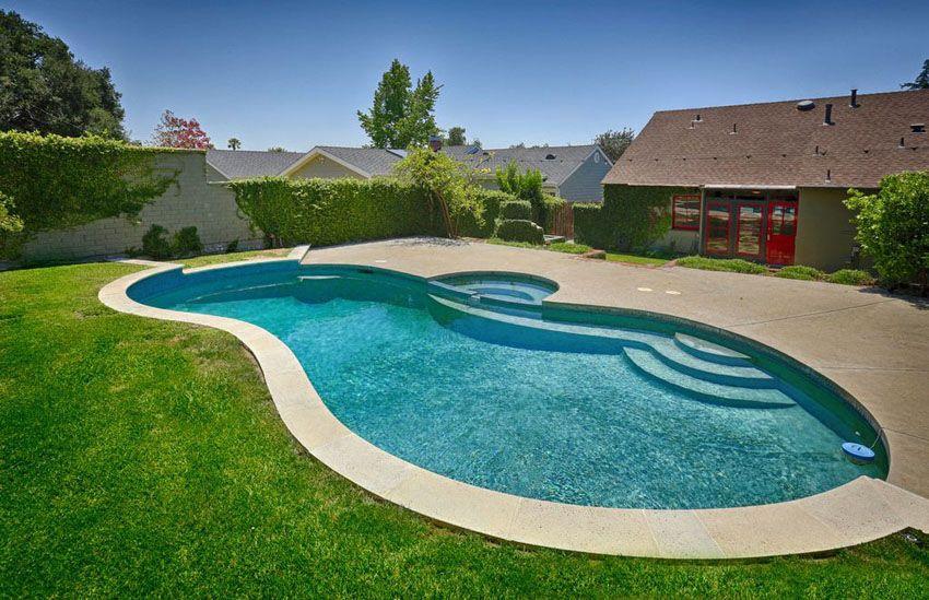 27 Best Kidney Shaped Pool Designs Kidney Shaped Pool Swimming Pool Designs Swimming Pools Backyard