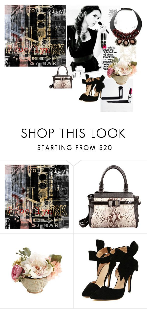 """""""Paseo importante..."""" by maryrosagaray ❤ liked on Polyvore featuring The Artwork Factory, Victoria Beckham, Leo Ventoni, PEONY and Marni"""
