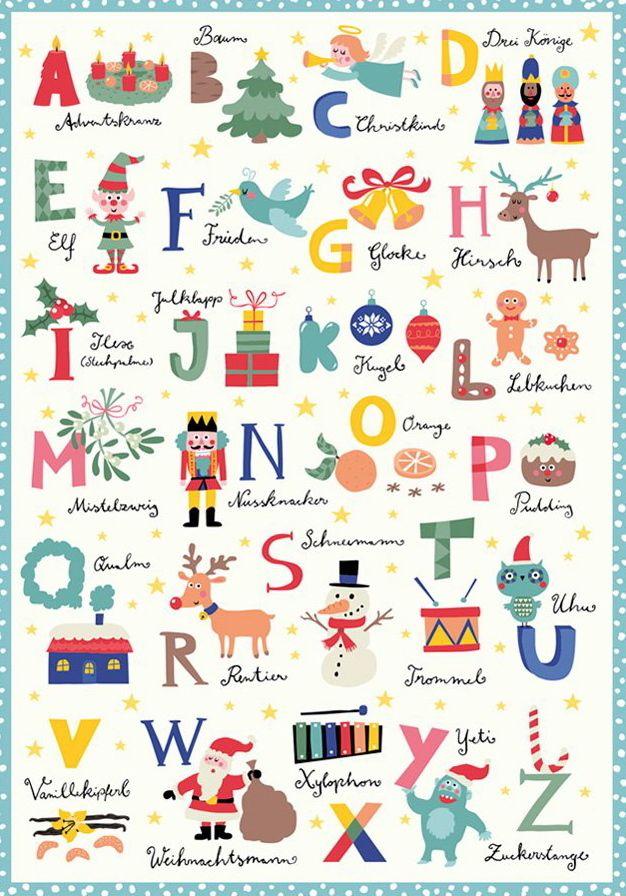 Abc Weihnachtskarten.Lustiges Weihnachts Abc Planner Stickers Weihnachten
