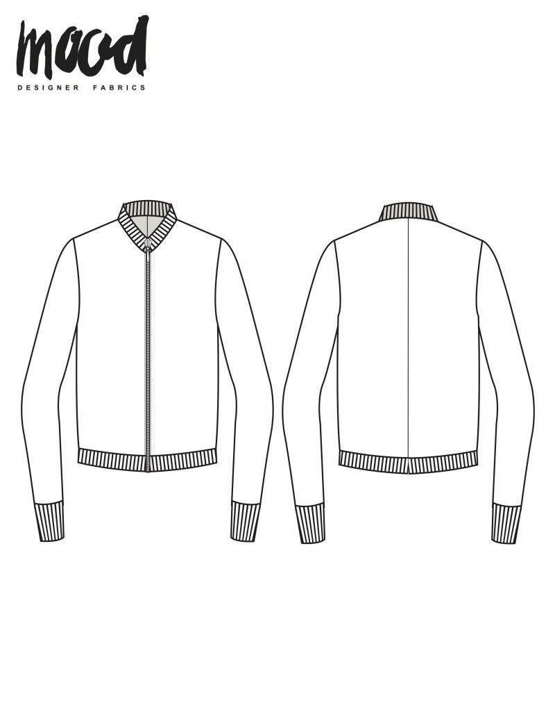 The Avelia Bomber Jacket Free Sewing Pattern Mood Sewciety Patterned Bomber Jacket Diy Bomber Jacket Sewing Jacket Pattern Sewing [ 1035 x 800 Pixel ]