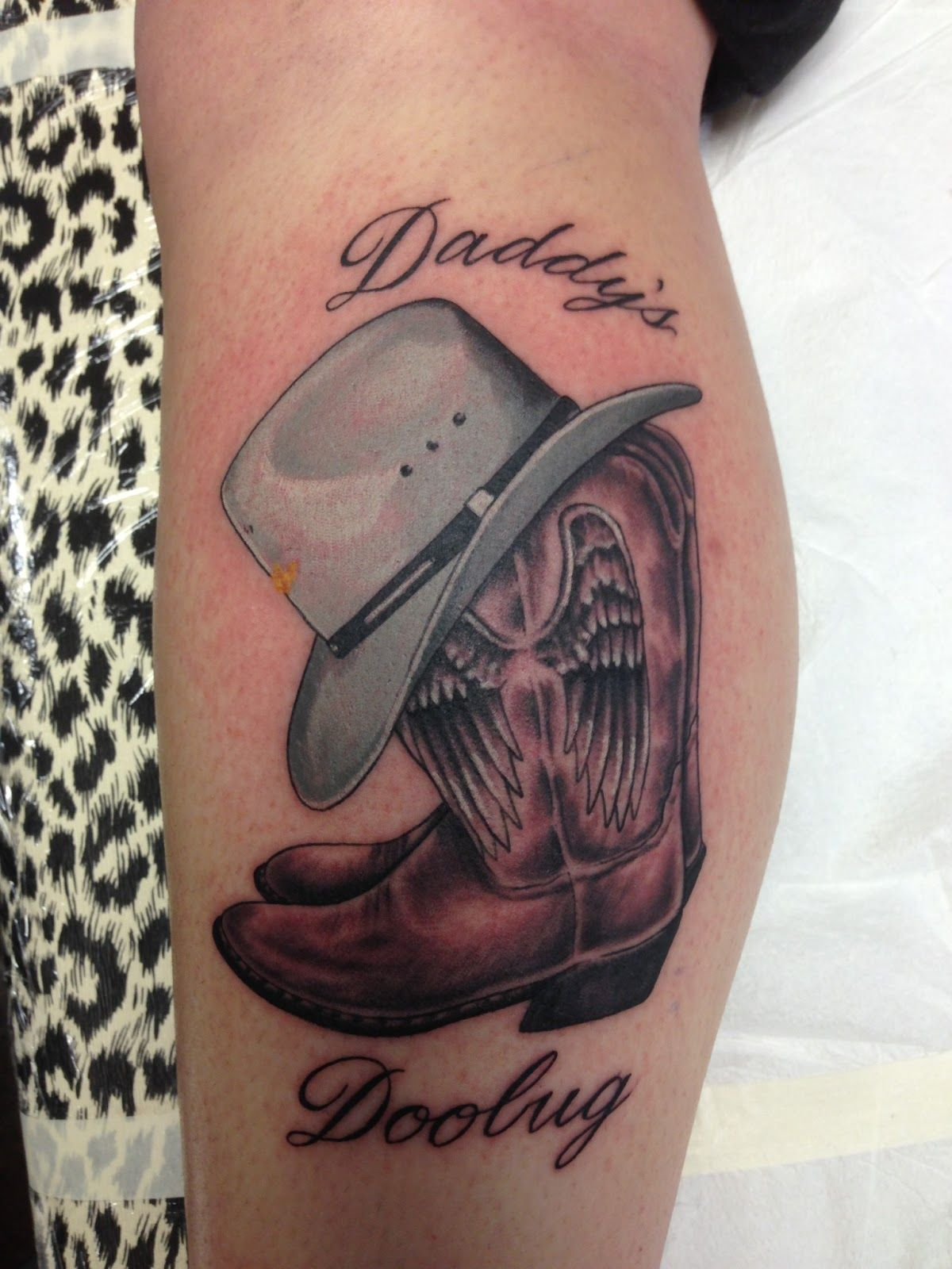 cowboy hat tattoos cowboy boots with hat by russell fortier lucky rh pinterest com boat tattoos for men boat tattoos