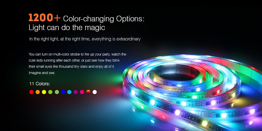 1200 Color Changing Options Light Can Do The Magic In The Right Light At The Right Time Everything Is Extraordinary Led Rope Lights Rope Light Indoor Decor