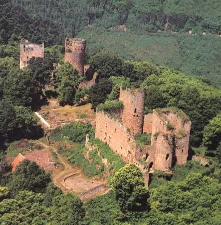 Ottrott Lutzelbourg Rathsamhausen Burg Burgen Und Schlosser Elsass