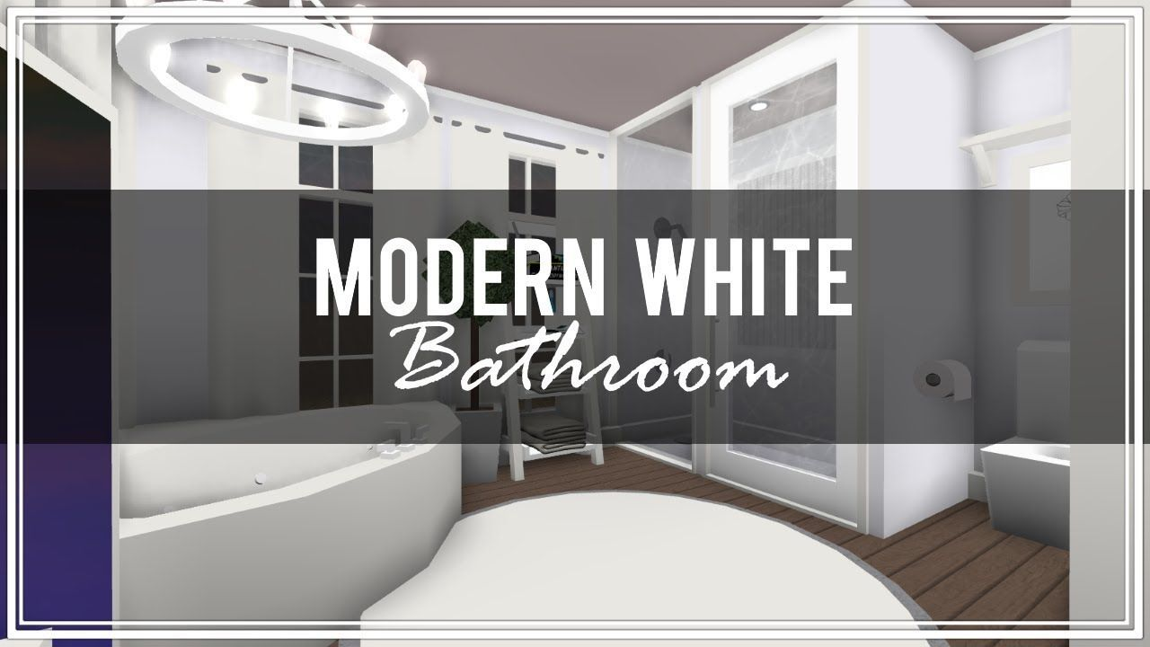 Roblox Welcome To Bloxburg Modern White Bathroom Modern White Bathroom White Bathroom Luxury Bathroom Master Baths