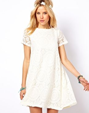 ASOS Lace Swing Dress With Kaleidoscope Pattern