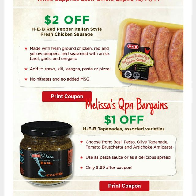 photograph about Heb Printable Coupons named Melissas Coupon Savings: HEB-- $5 relevance of Printable