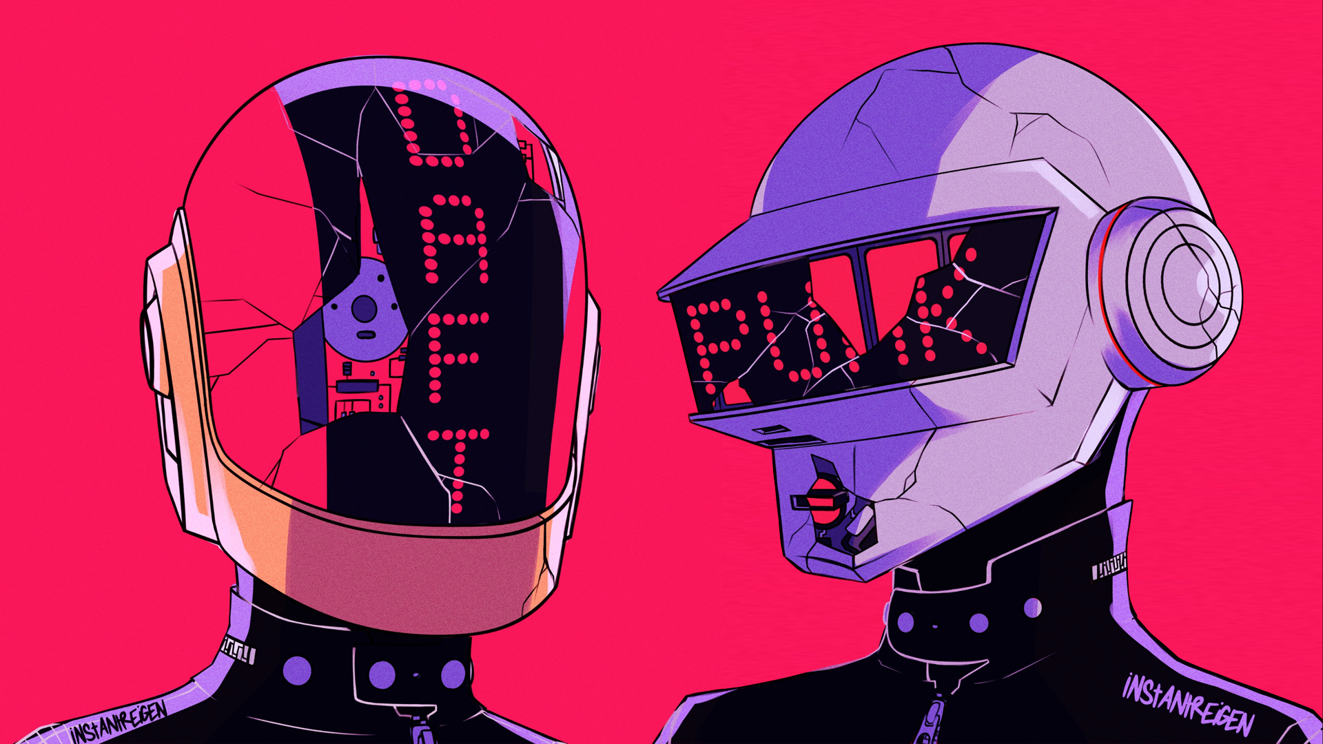 Made Myself A Daft Punk Wallpaper From Some Sweet Artwork By Instantreigen On Twitter 1920x1080 3840x1600 In 2020 Daft Punk Punk Art Music