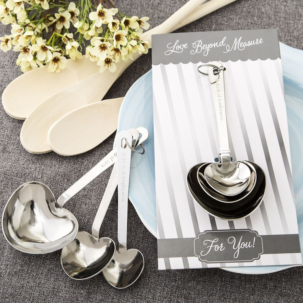 What Is An Appropriate Wedding Gift Amount: Stainless Steel Heart Shaped Measuring Spoon Set
