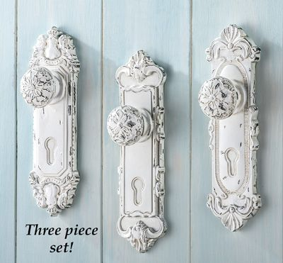 antique door knob wall hooks set of 3 from collections etc - Vintage Door Knobs