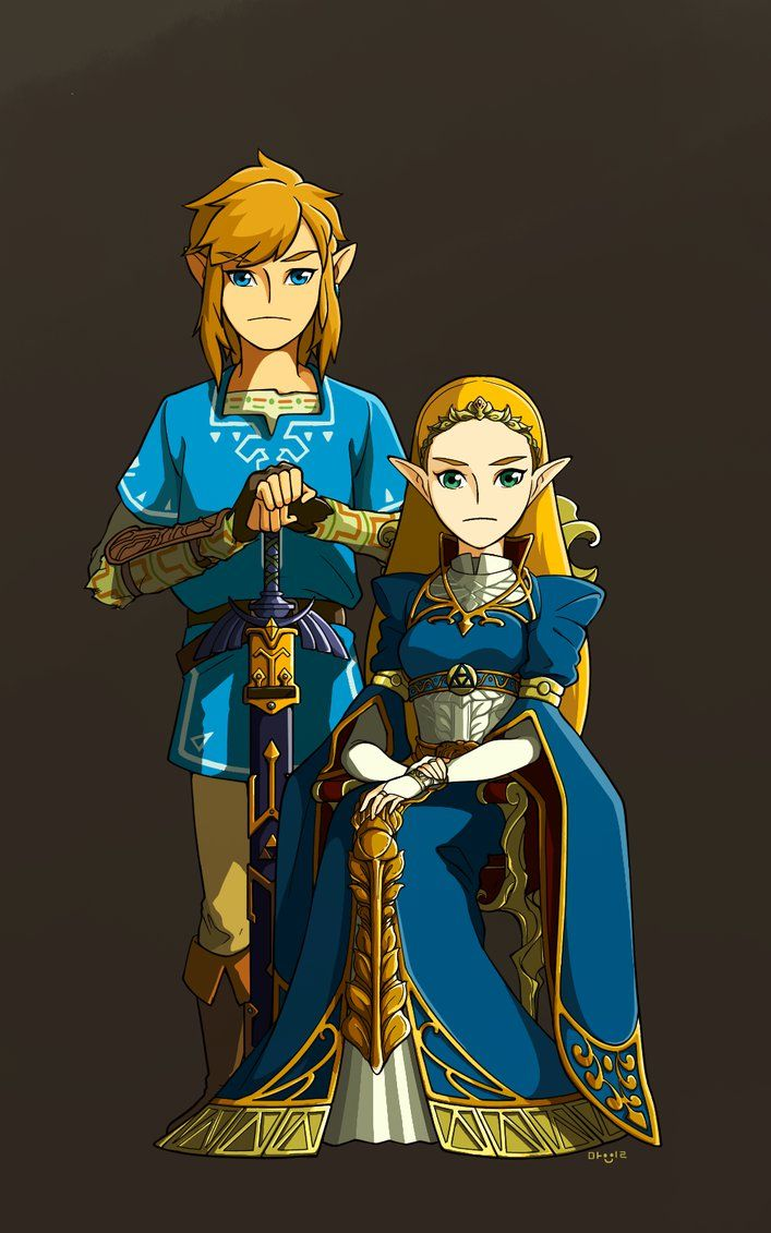 Loz Botw Princess And Her Knight By Mangbean1031 Legend Of Zelda Legend Of Zelda Breath Zelda Breath