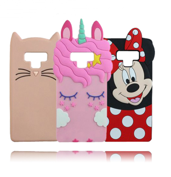 pretty nice 55522 b48a5 Cute 3D Cartoon Unicorn Samsung Note 9 Case 3d Silicone Cover For ...