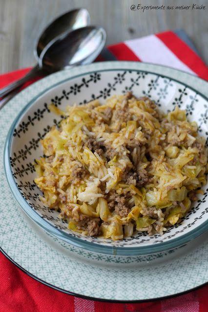 Reis-Spitzkohlpfanne mit Hackfleisch oder Kohlroulade mal anders #spitzkohlrezeptehackfleisch
