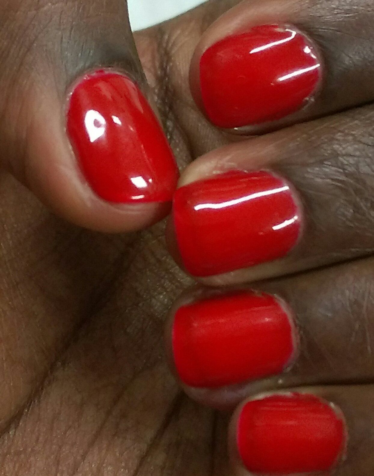 Red Nails For Dark Skin