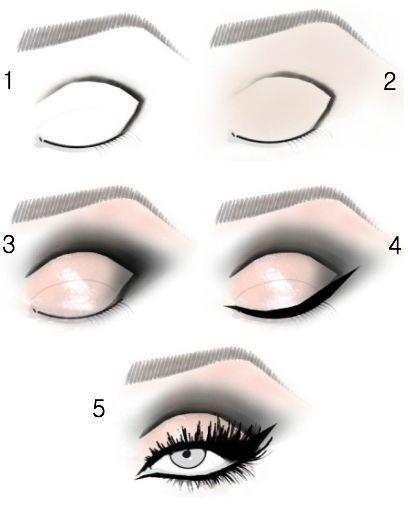 como fazer olho esfumado simples