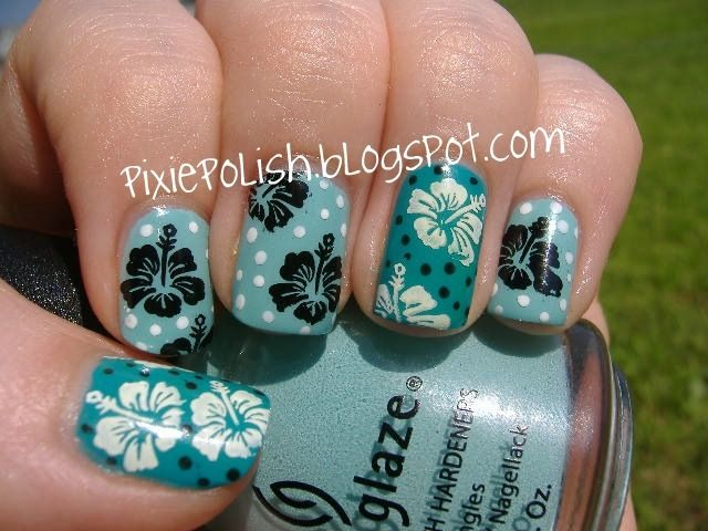 Fabulous nails - Tropical Nail Art That'll Transport You To Paradise Hairspray