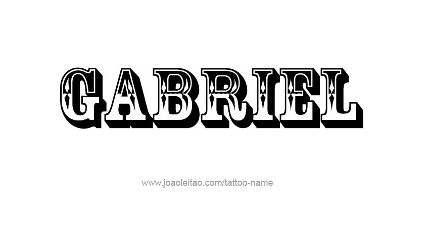 Gabriel Angel Name Tattoo Designs Name Tattoos Name Tattoo Designs Name Tattoo