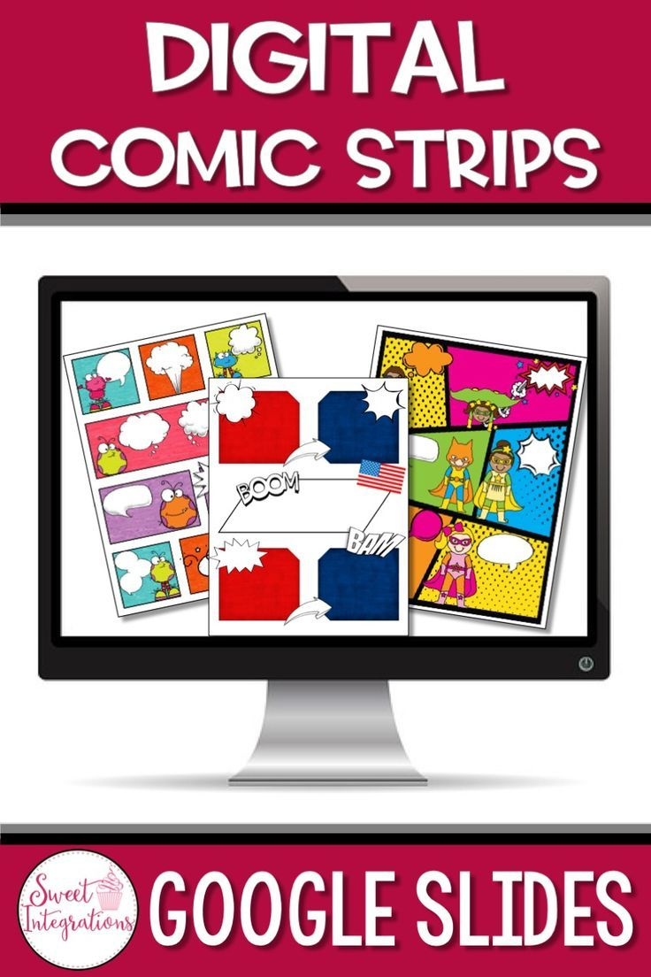 COMIC STRIP TEMPLATES GOOGLE SLIDES™ Reading and Writing