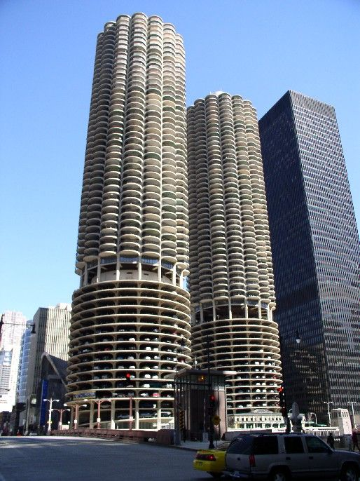 Modern Architecture Chicago brutalisme | marina city and architecture