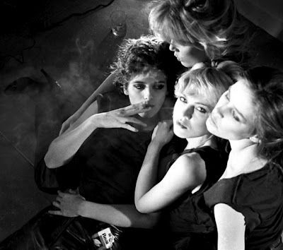 #wishiwasthere Gia Carangi, Patti Hansen, Sandy Linter & Juli Foster by Michael Tighe, 1979