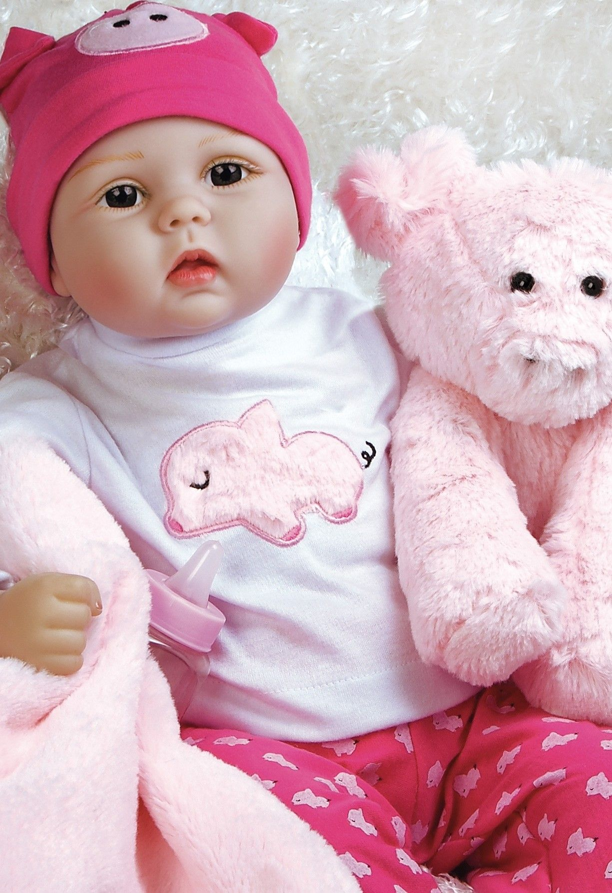 f057b6865407 Real Looking Girl Baby Doll This Little Piggy