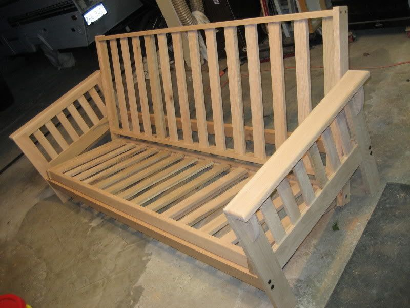pleted futon project  pleted futon project   outdoor living   pinterest   diy chair      rh   pinterest