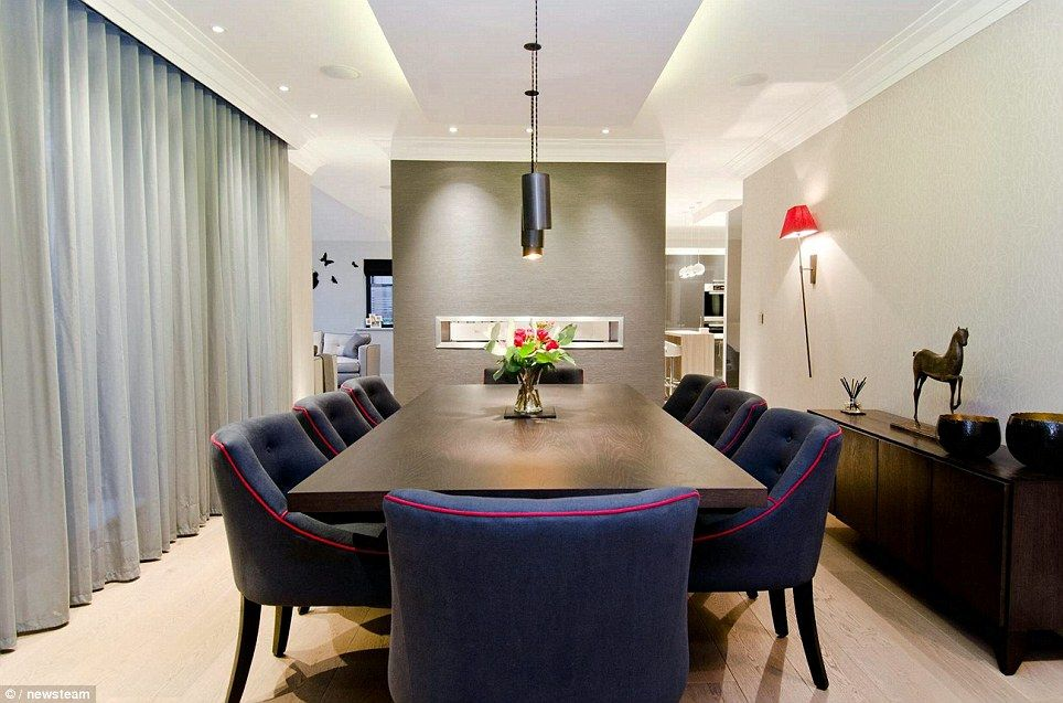 The stunning design covers a floor area extending to 4,754 sq ft. The large dining room, e...