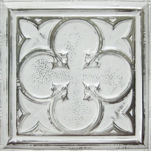 quatrefoil tin ceiling panel pattern 12 shown in silver 20978 | 24be8d96423a03a5d9c5d20978ea42e8
