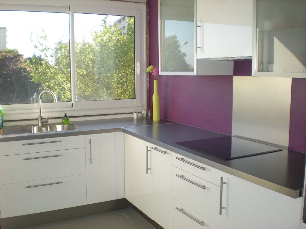 cuisine mur violet recherche google cuisine parme pinterest peinture cuisine cuisiner. Black Bedroom Furniture Sets. Home Design Ideas
