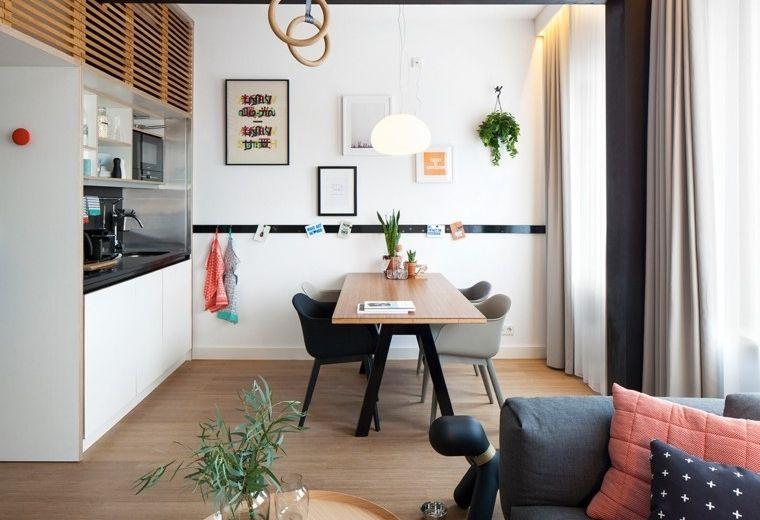 Salon comedor pequeño: 25 ideas que te impresionaran | Cocina ...