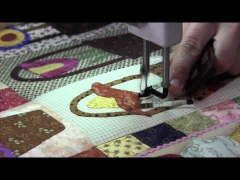 How to use an applique ruler he has several you tube videos