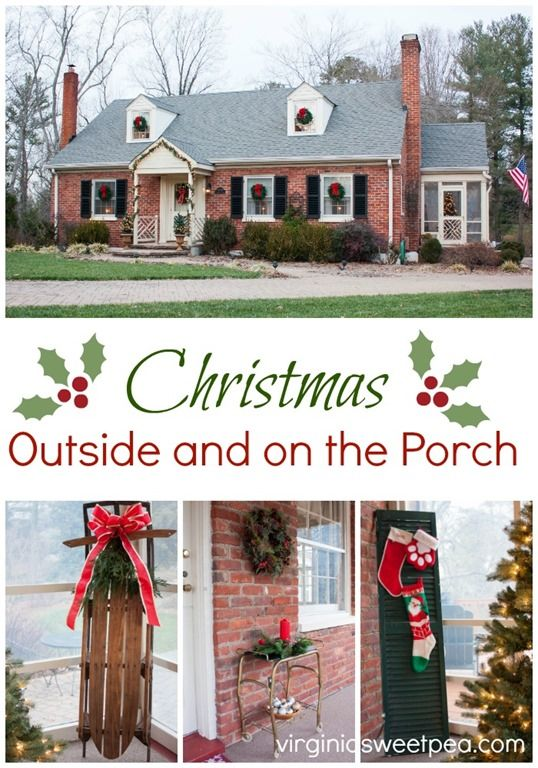 Christmas Outside And On The Porch By Virginiasweetpea