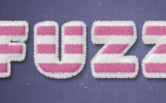 Striped Fuzzy Text Effect