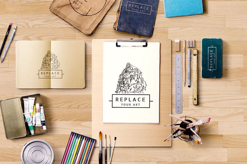 Incredible flatlay by mockup zone flatlay inspiration for Painting inspiration generator