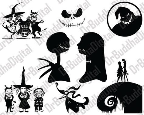 15+ Nightmare Before Christmas Clipart Black And White