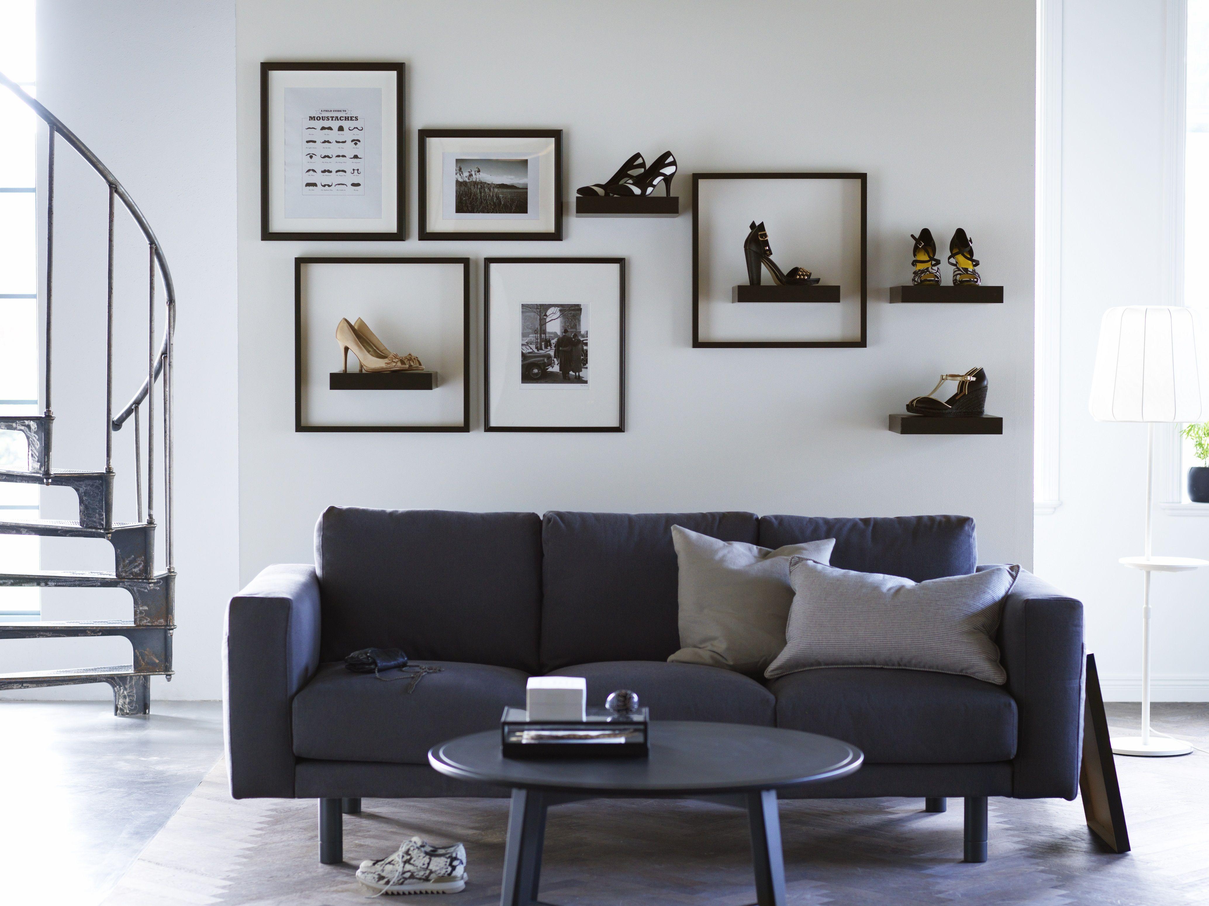 norsborg 3 zitsbank ikea ikeanl bank donkergrijs zithoek interieur woonkamers. Black Bedroom Furniture Sets. Home Design Ideas