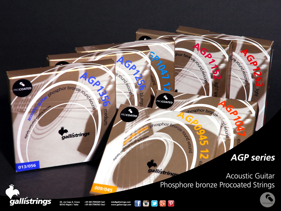 ProCoated Phosphor Bronze It's our passion for strings, lasting for generation, together with the best technology available, which makes Galli ProCoated strings the most outstanding product in our catalogue.