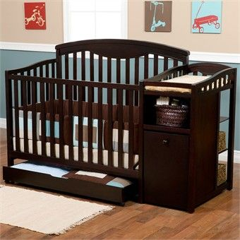 Delta Children S Products Cambridge Convertible Crib And Changer I Love The Style Of This