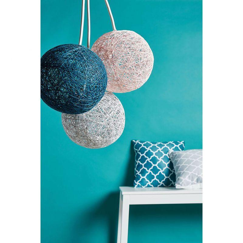 suspension boule bleu canard d 20cm en 2019 decoterest. Black Bedroom Furniture Sets. Home Design Ideas