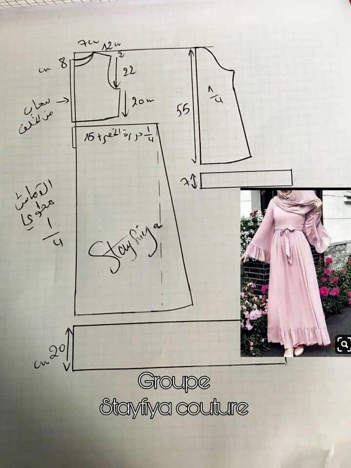 Gamis Pattern Girls Dress Sewing Patterns Blouse Pattern Sewing Fashion Sewing Pattern