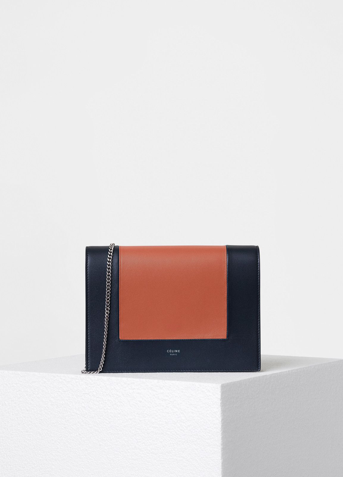 Frame Evening Clutch On Chain In Smooth Lambskin Spring