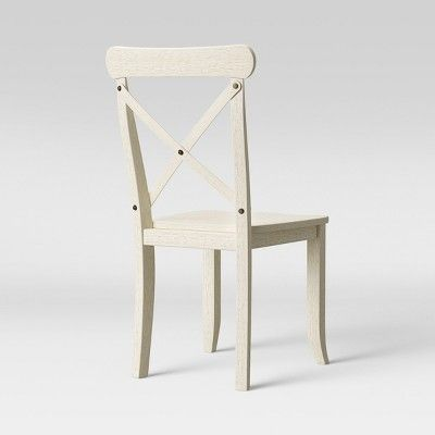 Set Of 2 Litchfield X Back Dining Chair Antique White Threshold Dining Chairs Wood Dining Chairs Dining Chair Set