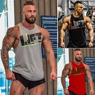 #Men's gym #singlet tank top tee stringer #bodybuilding y-back muscle fitness ves,  View more on the LINK: 	http://www.zeppy.io/product/gb/2/222102457791/