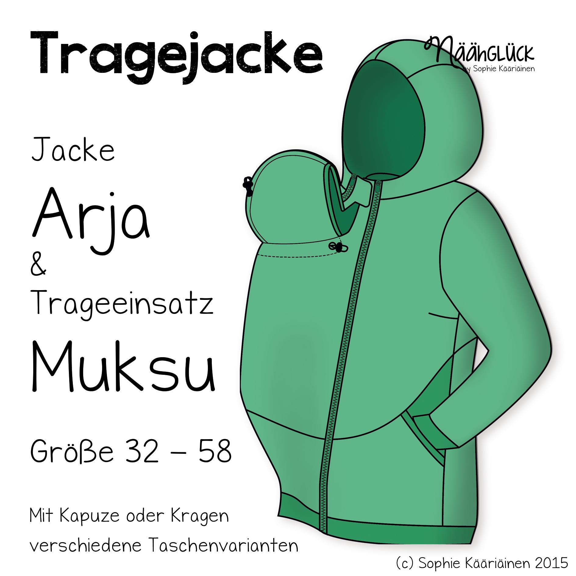 eBook Tragejacke Arja & Muksu | Nähen | Pinterest | Nähen, Baby ...