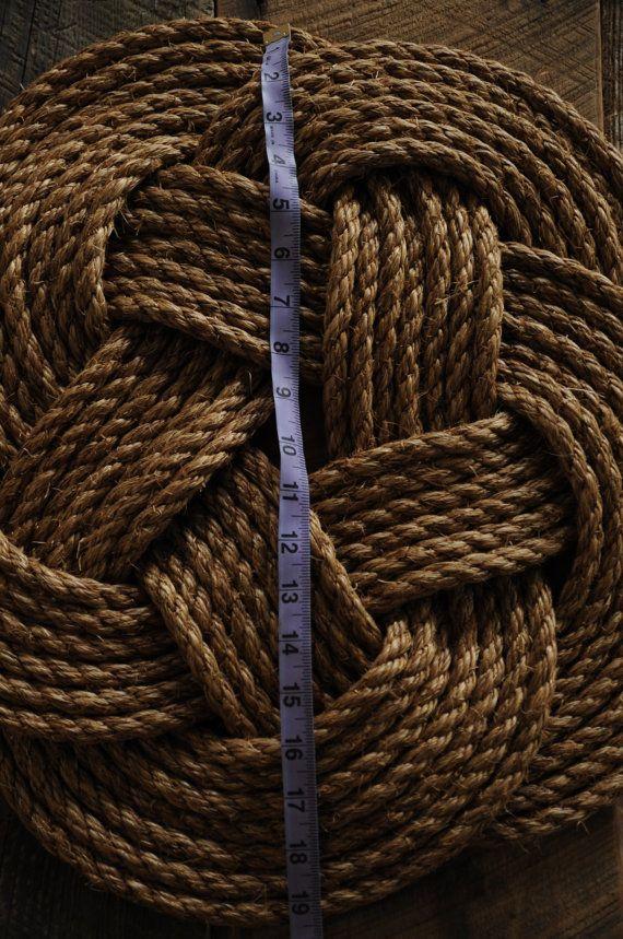 Alfombra de cuerda náutica por OYKNOT en Etsy
