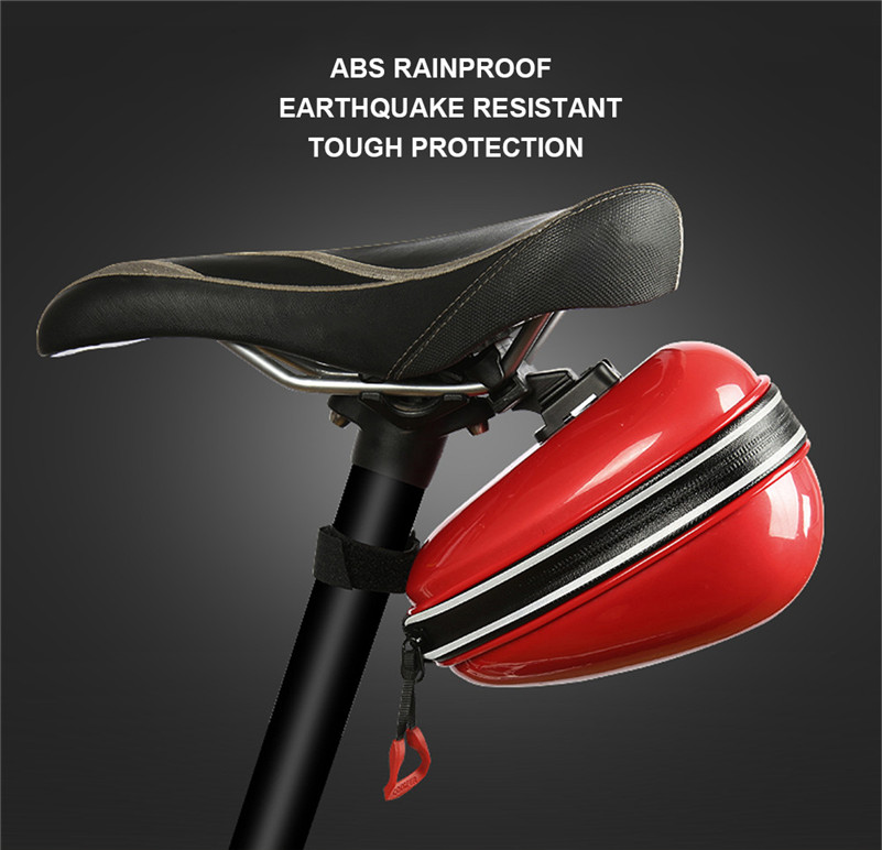 1pc Bike Seat Bag High Capacity Bike Seat Storage Pouch Mountain Road Bicycle Taillight Bag Waterproof Riding Container with Usb Tail Light