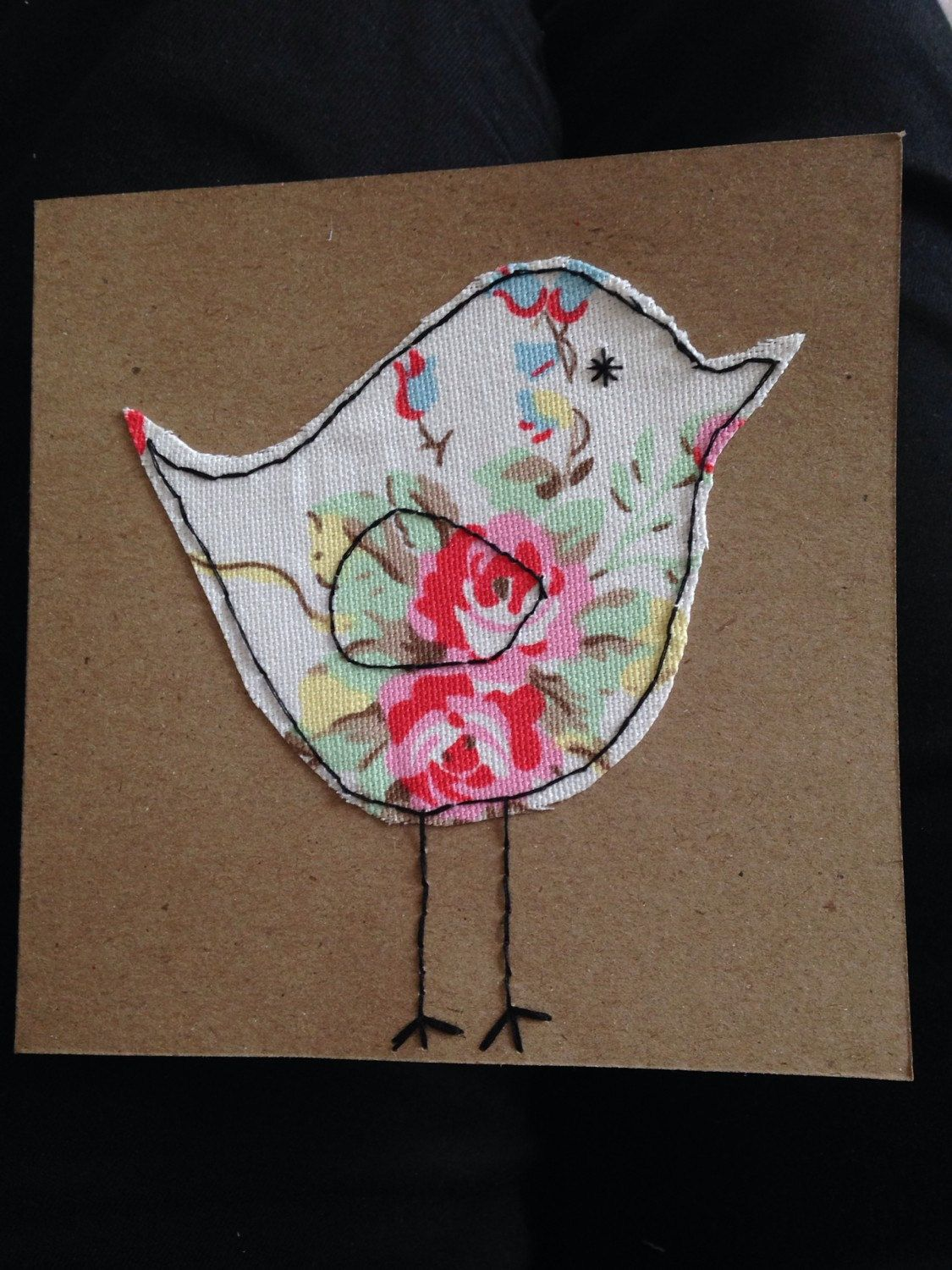Cath kidston cath kidston birthday card fabric greeting card cath kidston cath kidston birthday card fabric greeting card stitched card bird kristyandbryce Image collections